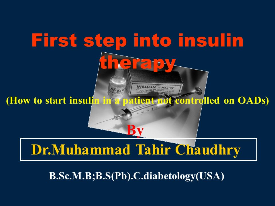 First step into insulin therapy