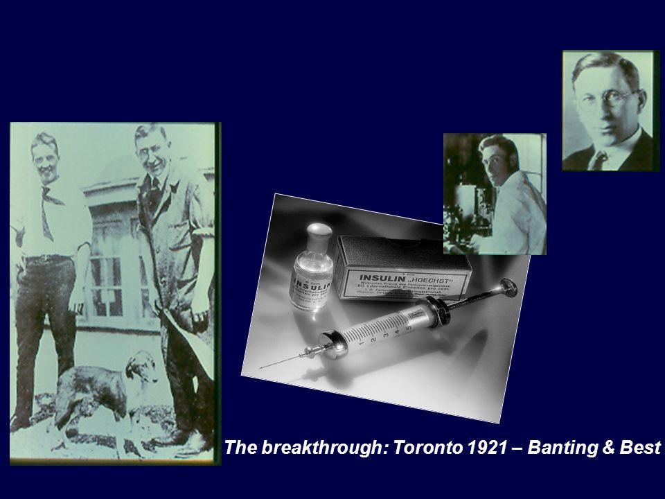 The breakthrough: Toronto 1921 – Banting & Best