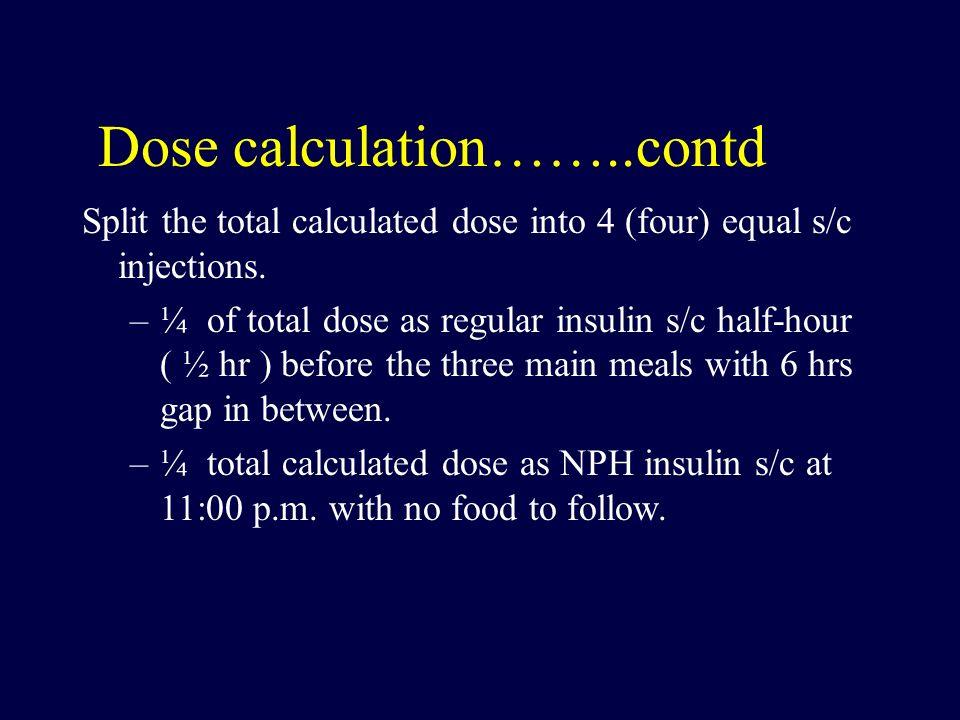 Dose calculation……..contd
