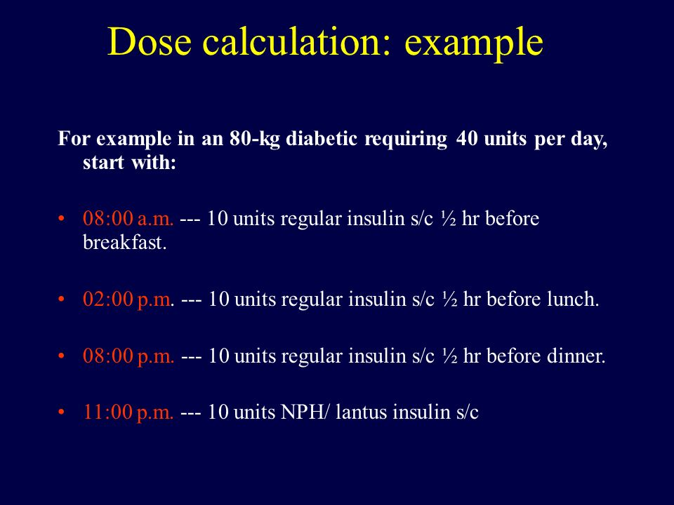 Dose calculation: example