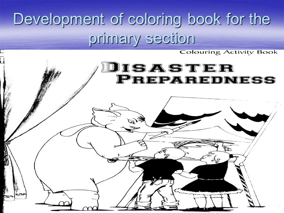 Development of coloring book for the primary section