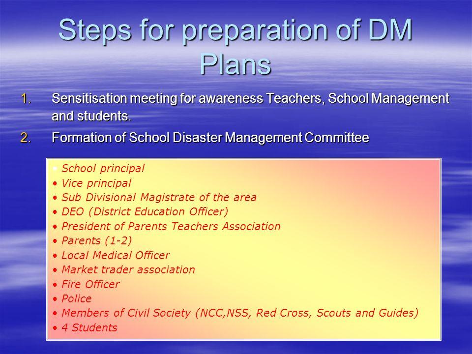 Steps for preparation of DM Plans