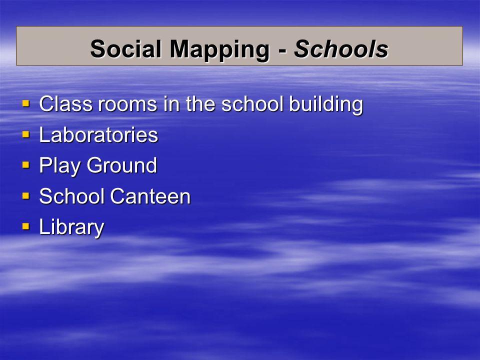Social Mapping - Schools