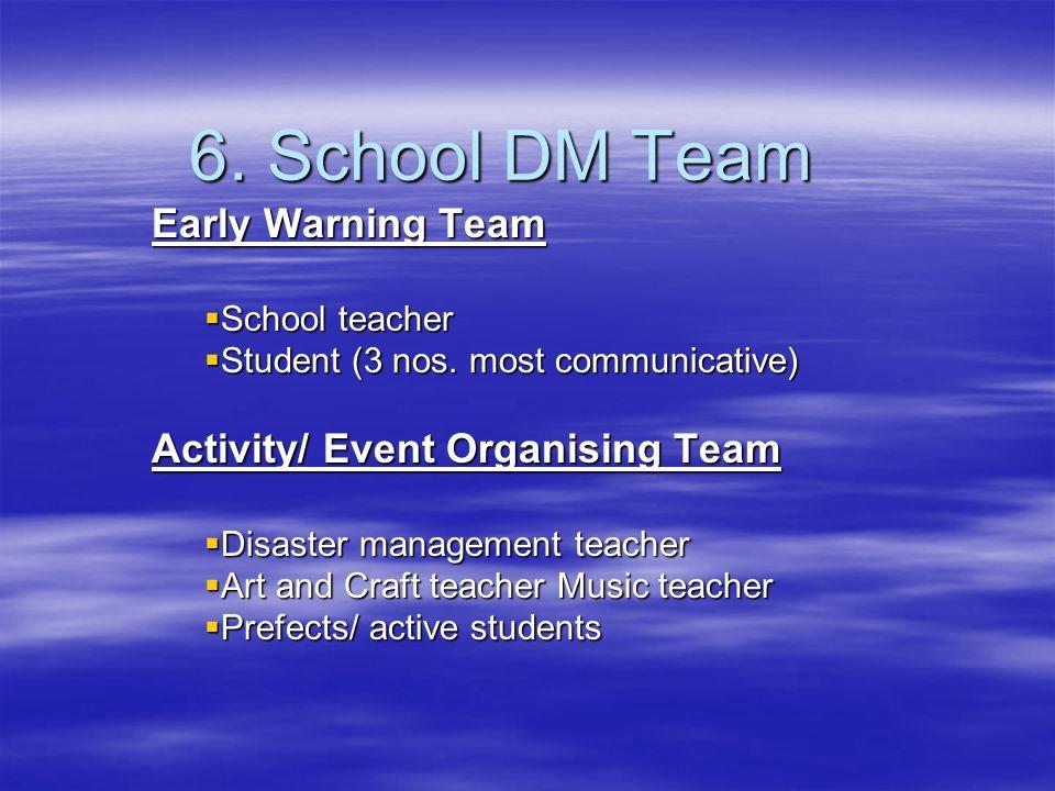 6. School DM Team Early Warning Team Activity/ Event Organising Team