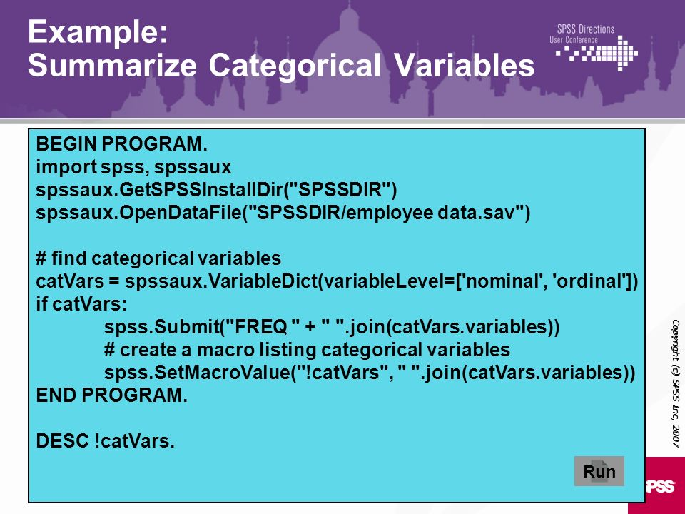 Example: Summarize Categorical Variables