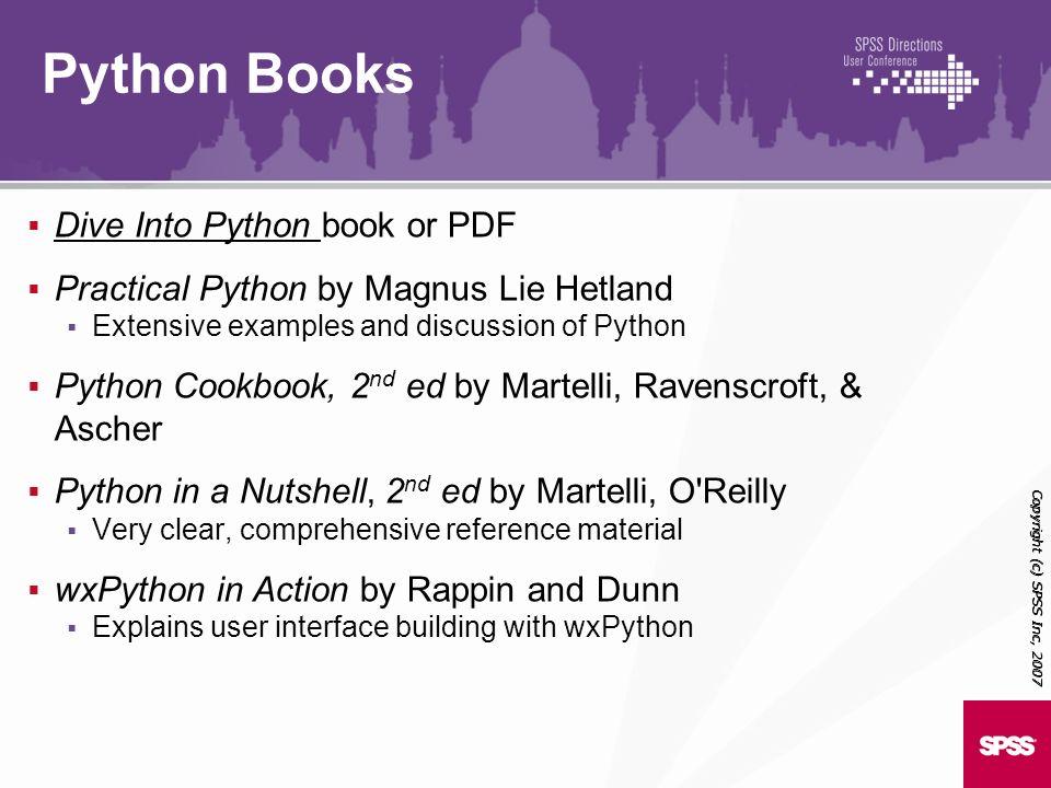 Python Books Dive Into Python book or PDF
