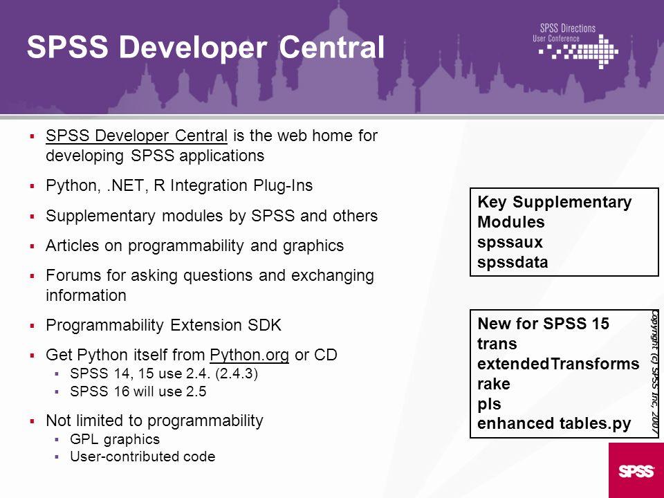 SPSS Developer Central