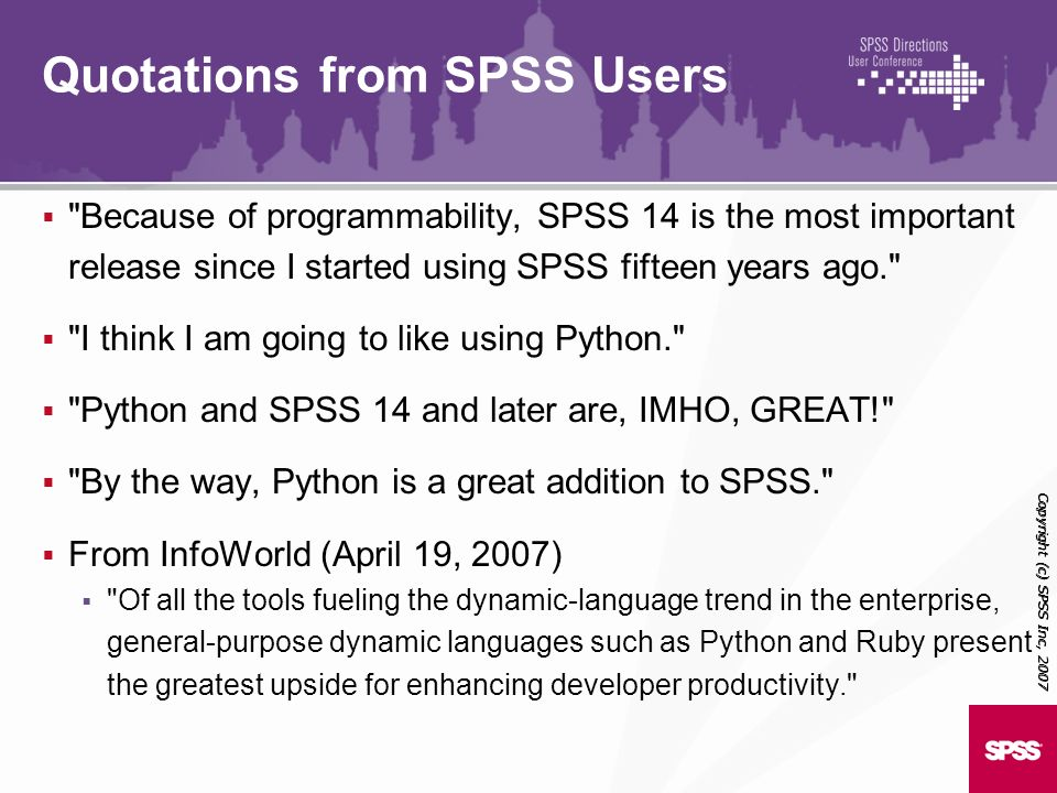 Quotations from SPSS Users