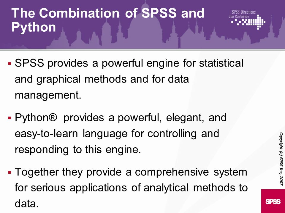 The Combination of SPSS and Python