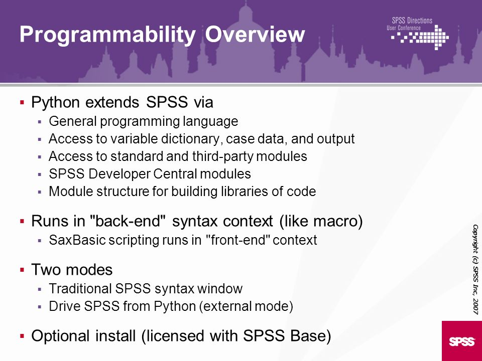 Programmability Overview