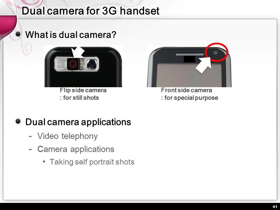 Dual camera for 3G handset