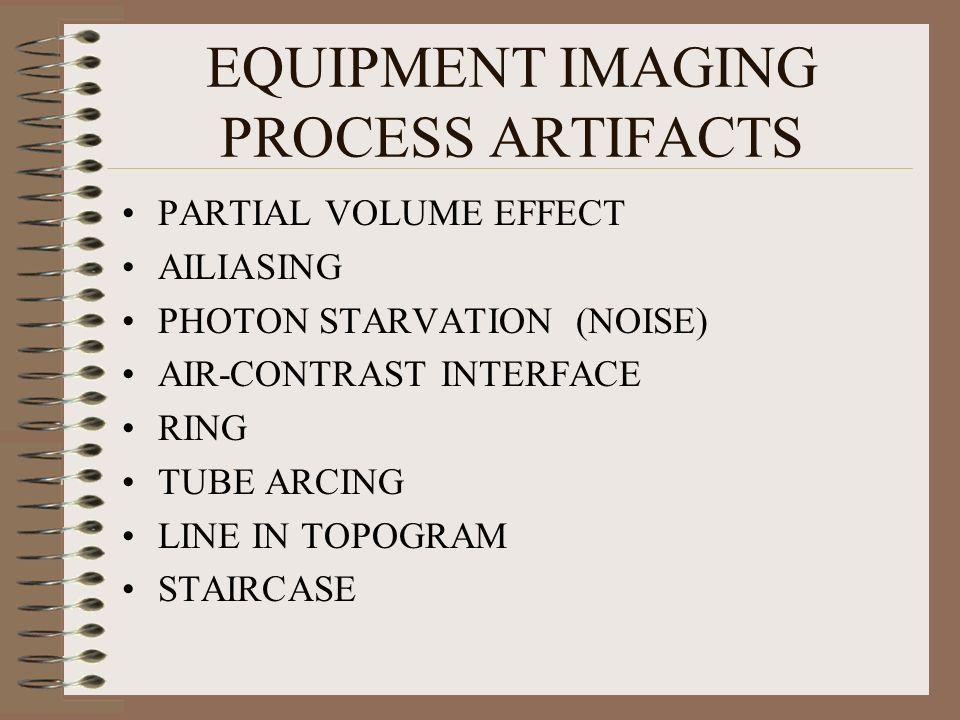 EQUIPMENT IMAGING PROCESS ARTIFACTS