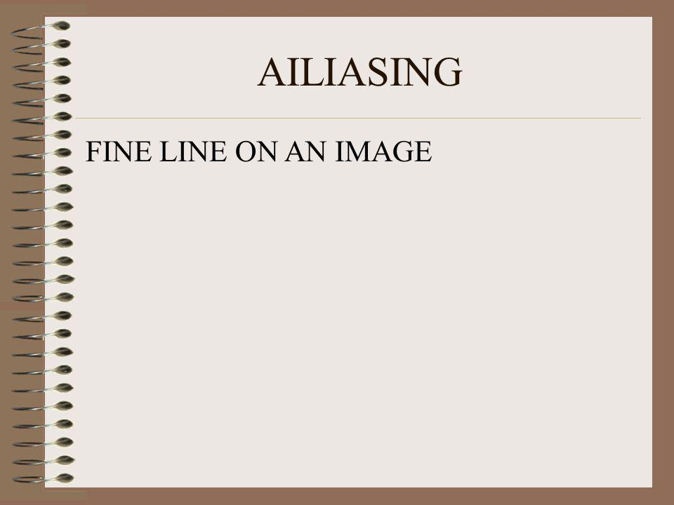 AILIASING FINE LINE ON AN IMAGE