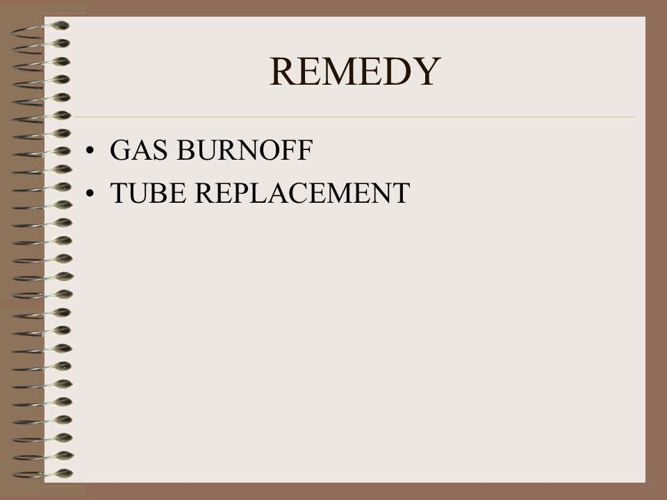 REMEDY GAS BURNOFF TUBE REPLACEMENT