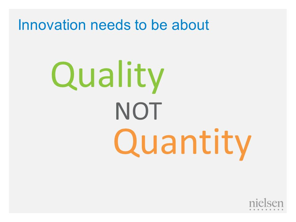 Innovation needs to be about