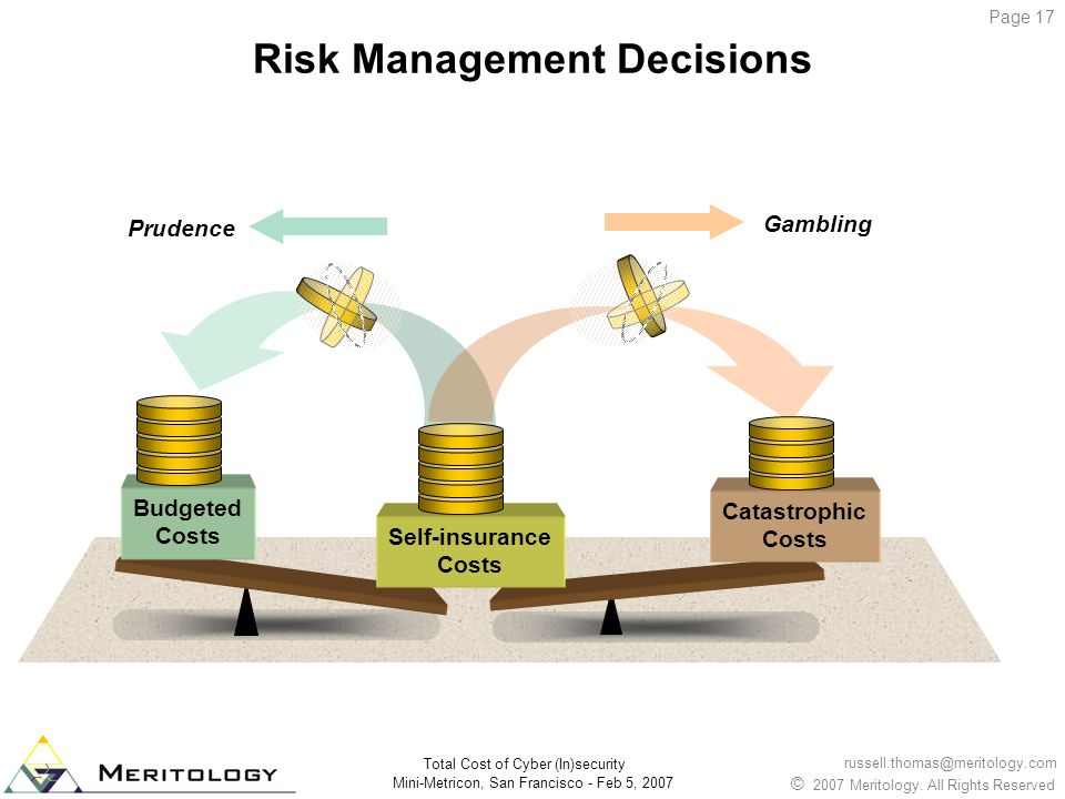 Risk Management Decisions