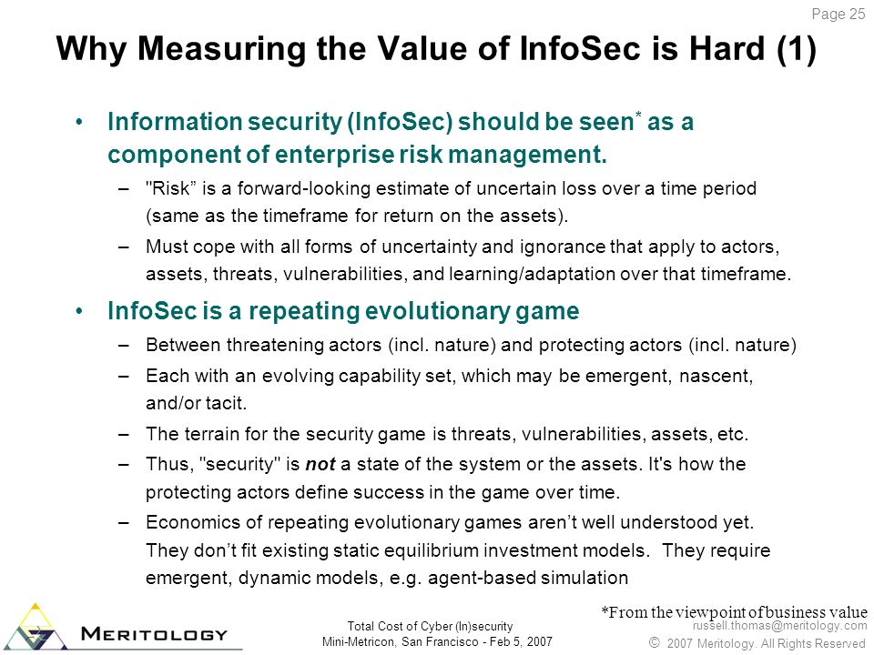 Why Measuring the Value of InfoSec is Hard (1)