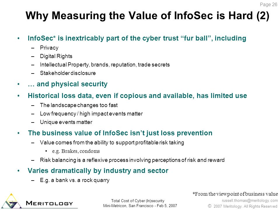 Why Measuring the Value of InfoSec is Hard (2)