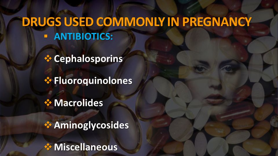 DRUGS USED COMMONLY IN PREGNANCY