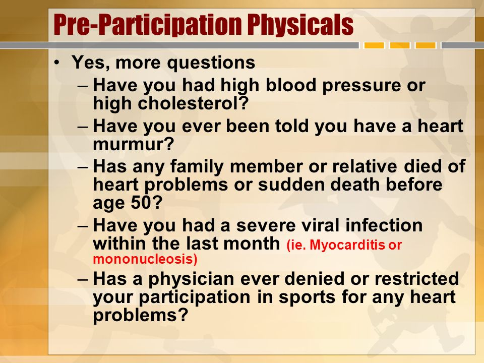 Pre-Participation Physicals