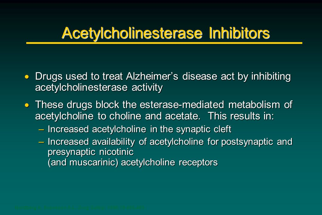 Acetylcholinesterase Inhibitors