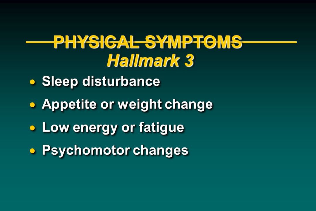 PHYSICAL SYMPTOMS Hallmark 3