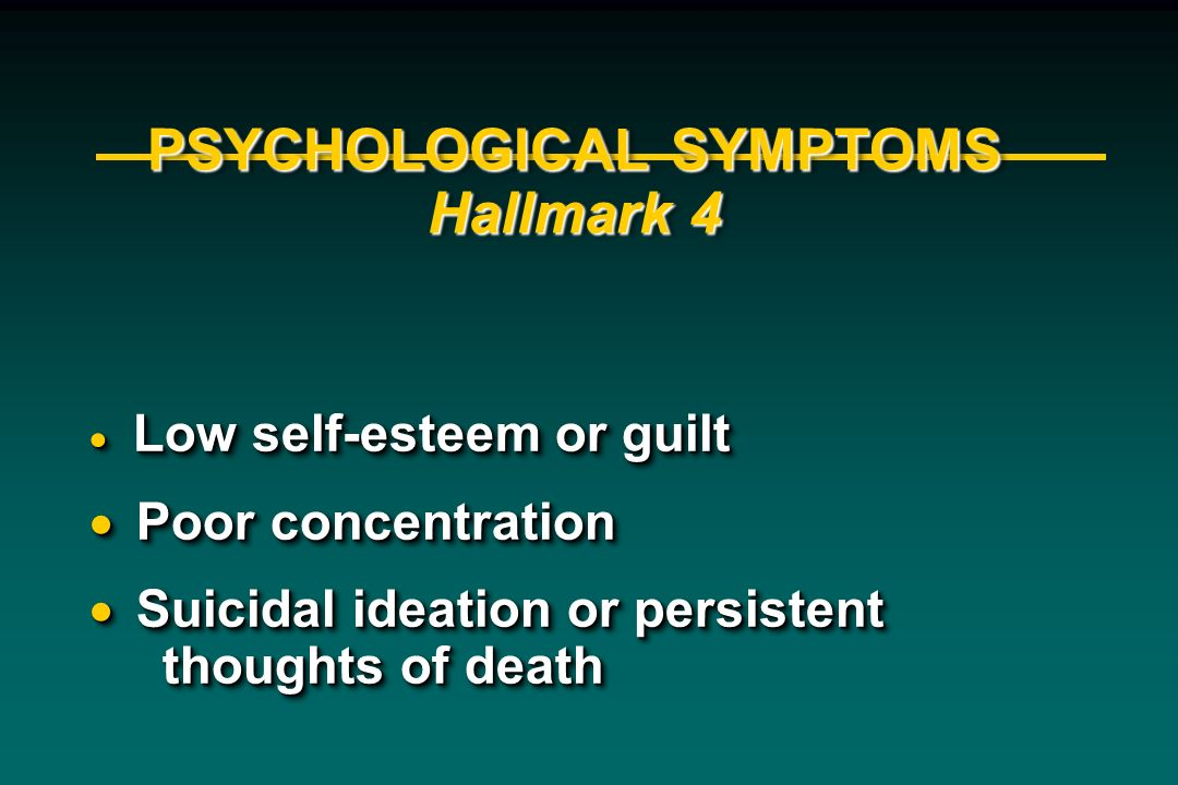 PSYCHOLOGICAL SYMPTOMS Hallmark 4