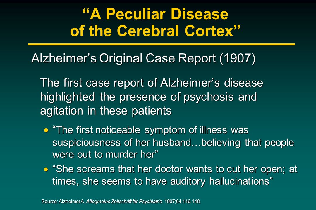 A Peculiar Disease of the Cerebral Cortex