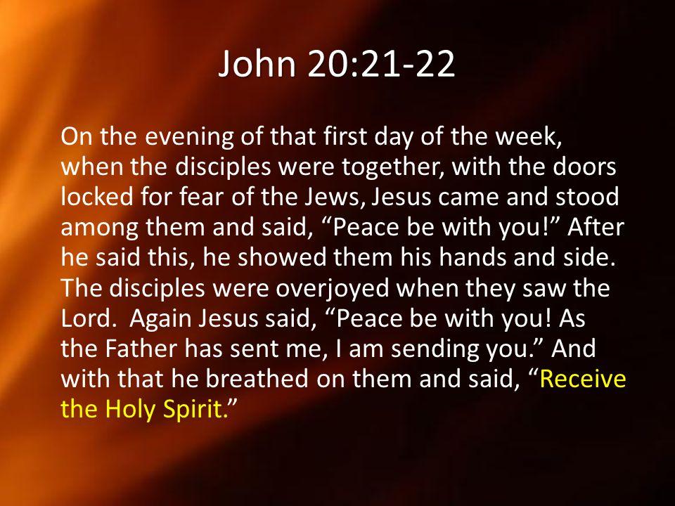 John 20:21-22