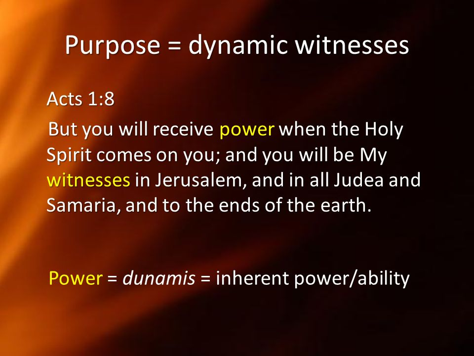 Purpose = dynamic witnesses