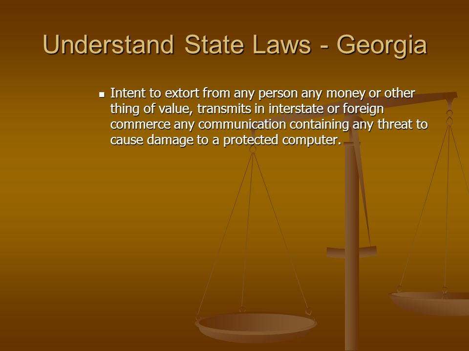 Understand State Laws - Georgia