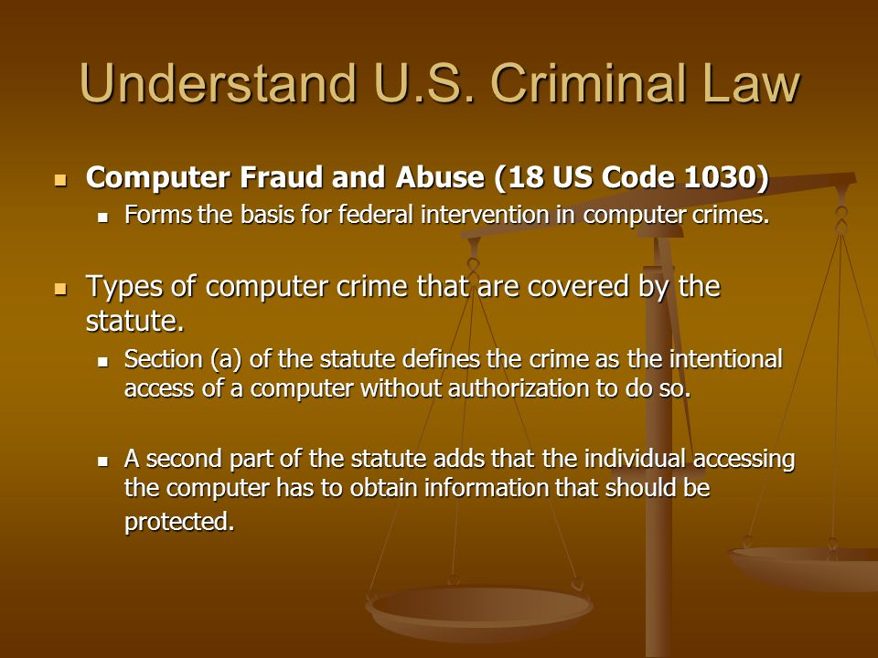 Understand U.S. Criminal Law