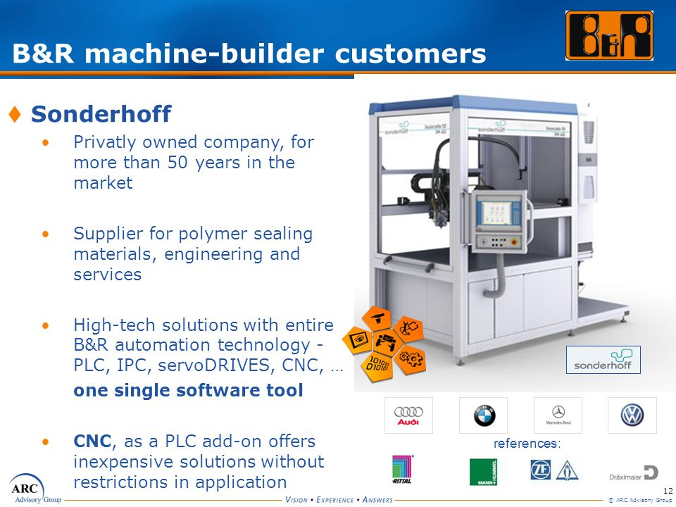 B&R machine-builder customers