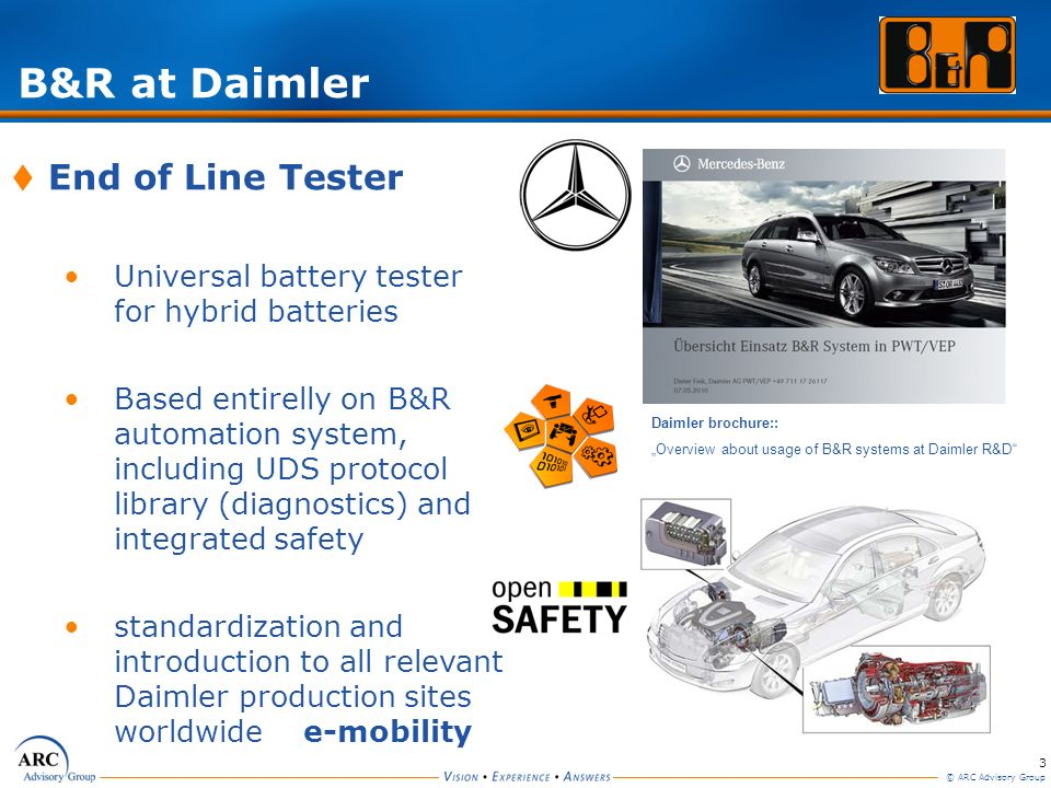 B&R at Daimler End of Line Tester