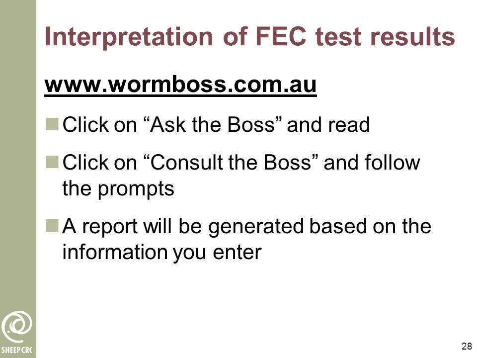Interpretation of FEC test results