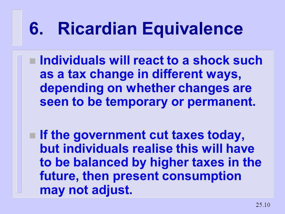 6. Ricardian Equivalence