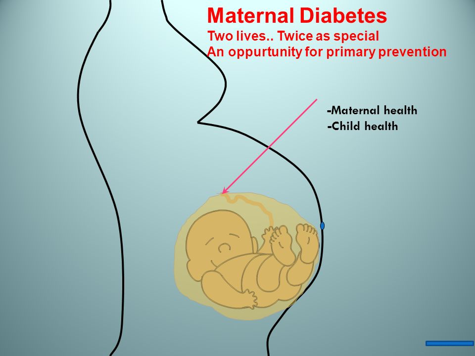Maternal Diabetes Two lives.. Twice as special