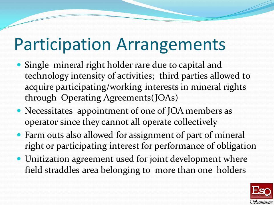 Participation Arrangements