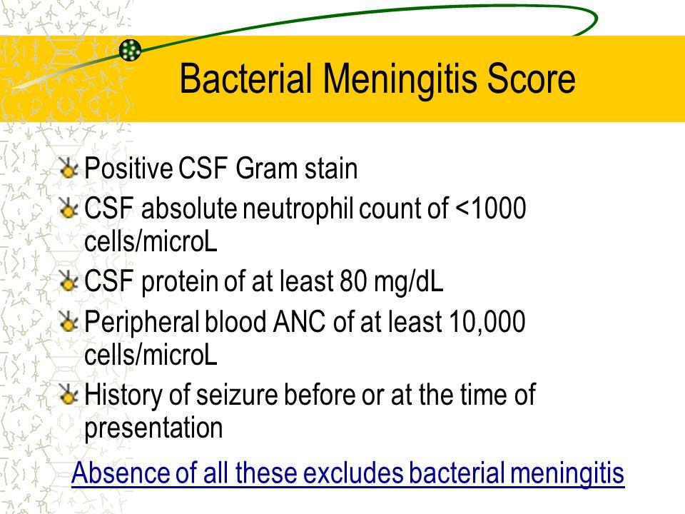 Bacterial Meningitis Score