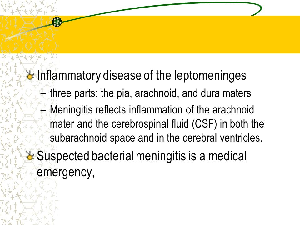 Inflammatory disease of the leptomeninges