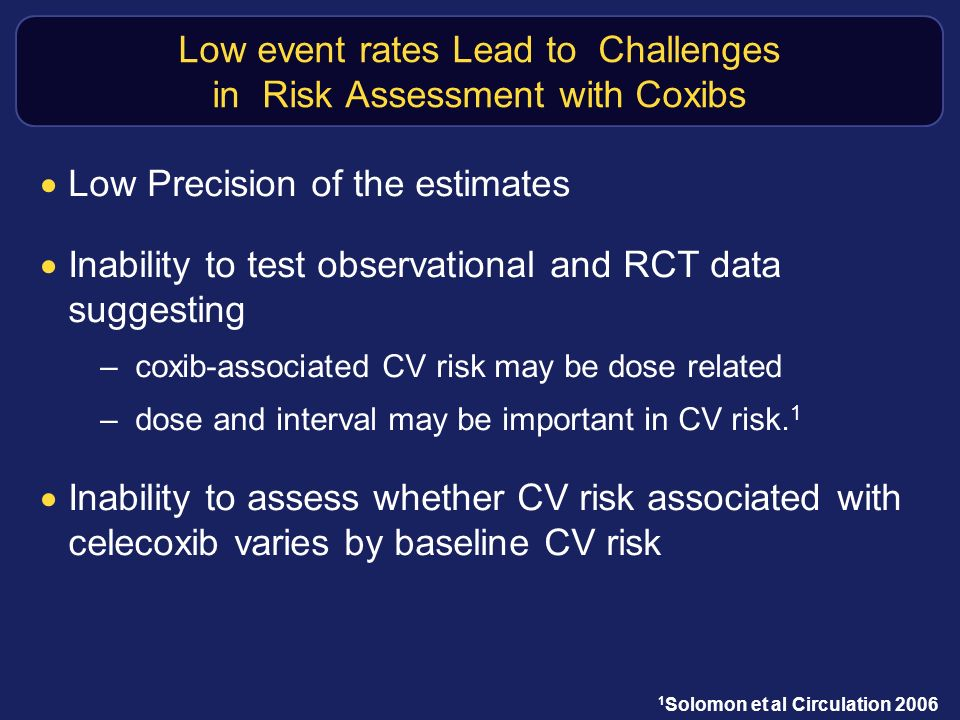 Low event rates Lead to Challenges in Risk Assessment with Coxibs