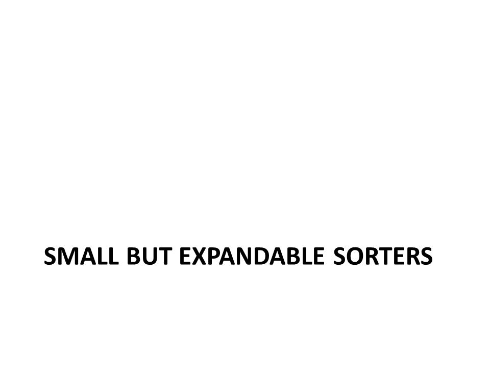 SMALL BUT Expandable Sorters