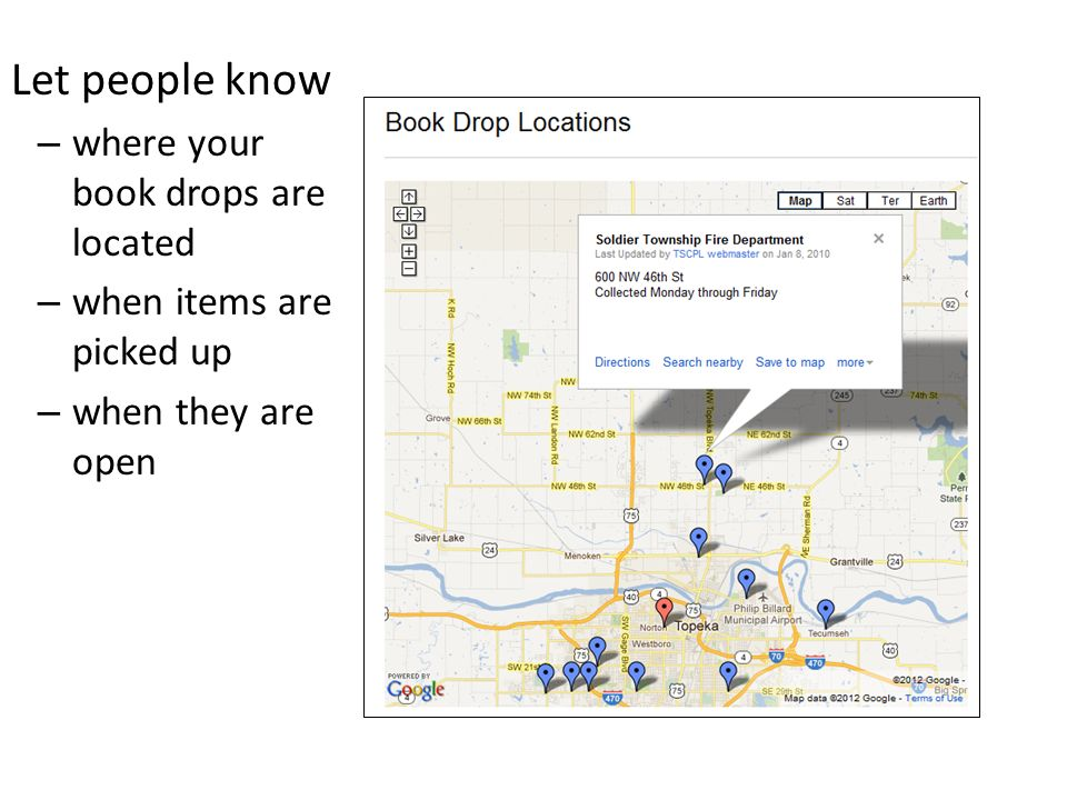 Advertise Book Drop Locations