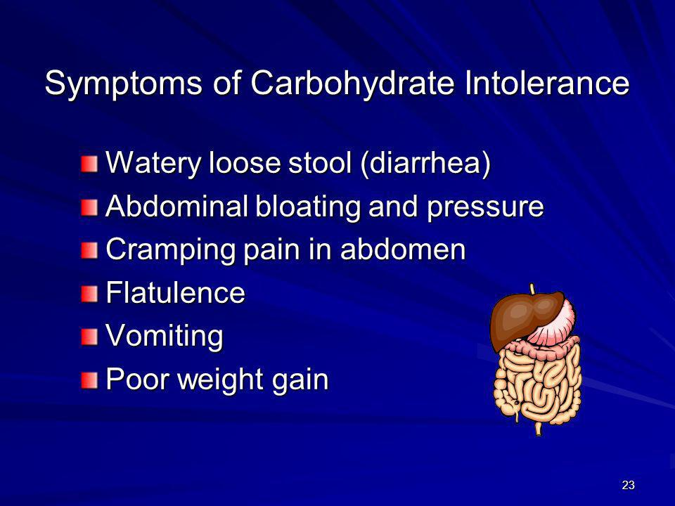 Symptoms of Carbohydrate Intolerance