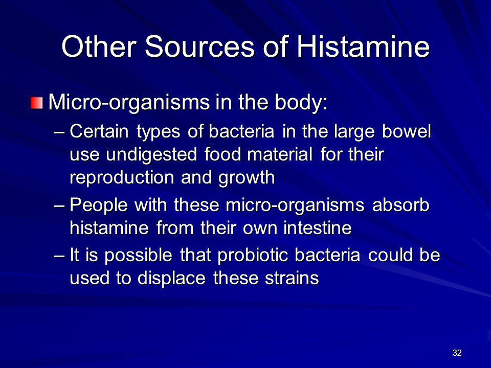 Other Sources of Histamine