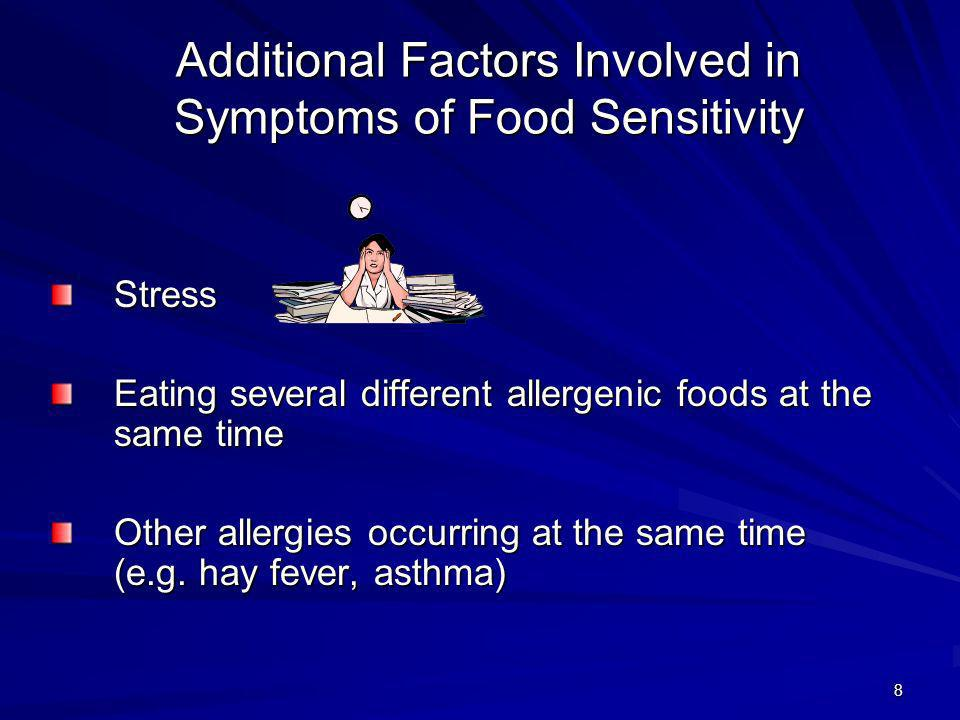 Additional Factors Involved in Symptoms of Food Sensitivity