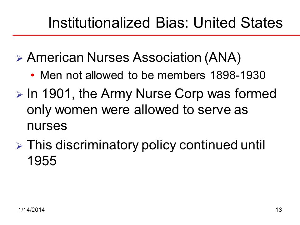 Institutionalized Bias: United States