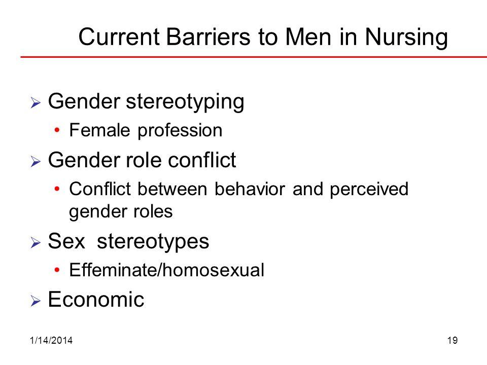 Current Barriers to Men in Nursing