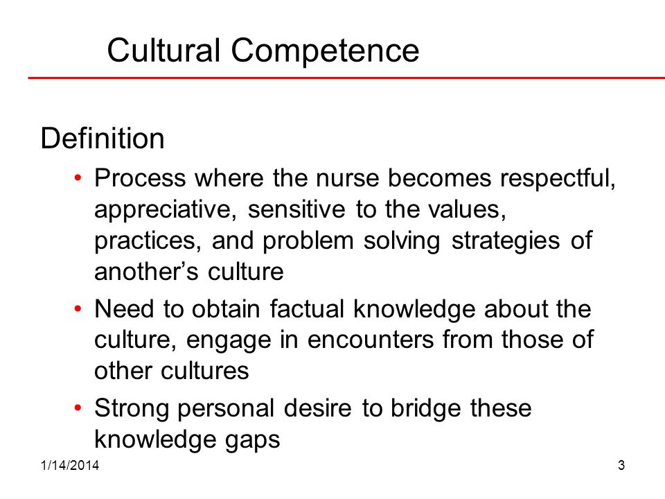 Cultural Competence Definition