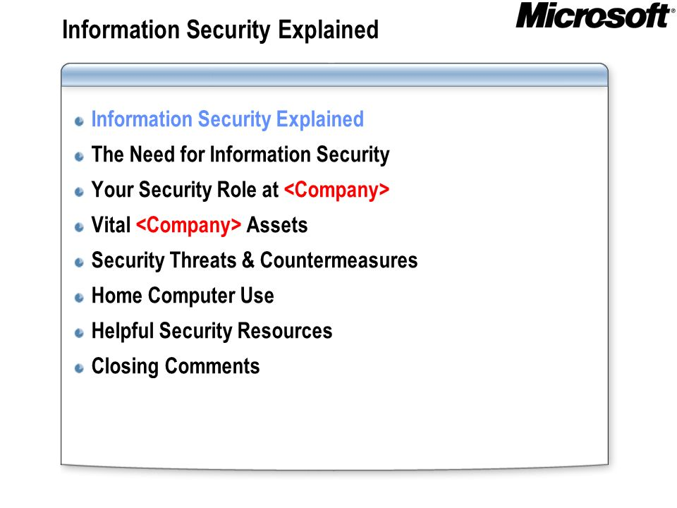 Information Security Explained